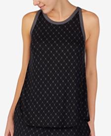 DKNY Printed Logo Knit Pajama Tank