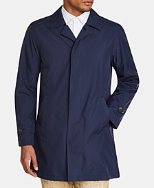Men's Slim Fit Solid Packable Trench Coat