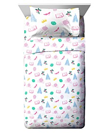 Princess Sassy 3 Piece Twin Sheet Set