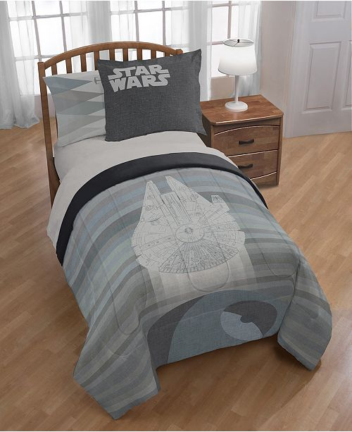 Star Wars Falcon vs. Death Star Full/Queen Comforter Set