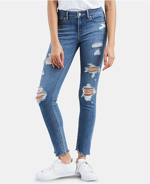 6a1158536b0 Levi s 711 Ripped Skinny Jeans   Reviews - Jeans - Women - Macy s