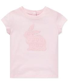 Polo Ralph Lauren Baby Girls Floral-Print Cotton T-Shirt
