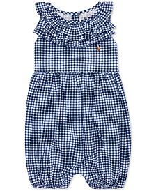Polo Ralph Lauren Baby Girls Ruffled Gingham Cotton Romper