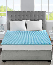 """Flexapedic by Sleep Philosophy 1.5"""" Cooling Gel-Infused Memory Foam Mattress Topper Collection"""