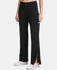 DKNY Sport Fleece Slit Track Pants, Created for Macy's