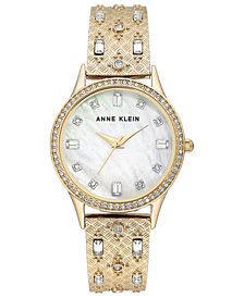 Anne Klein Women's Gold-Tone Bangle Bracelet Watch 32mm