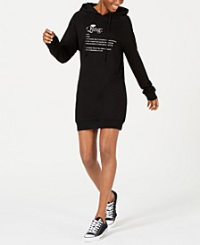 Qing Open-Back Hoodie Dress
