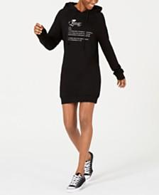 TENZ CVLT Qing Open-Back Hoodie Dress