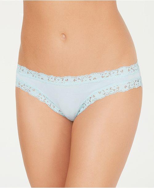 b.tempt'd Women's Insta Ready Low-Rise Lace Trim Bikini 978229