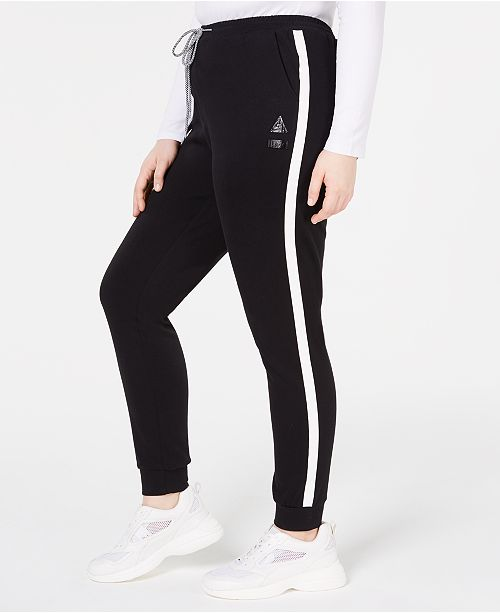 Lala Anthony La La Anthony Trendy Plus Size Side-Stripe Jogger Pants