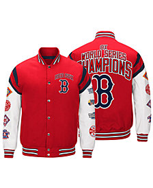 G-III Sports Men's Boston Red Sox Home Team Commemorative Varsity Jacket