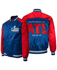 G-III Sports Men's Super Bowl LIII The Dugout Satin Jacket