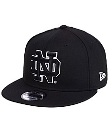 Notre Dame Fighting Irish Black White Fashion 9FIFTY Snapback Cap