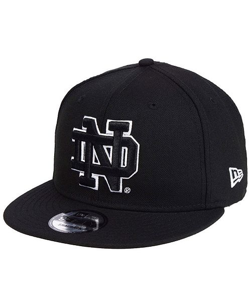 New Era Notre Dame Fighting Irish Black White Fashion 9FIFTY Snapback Cap