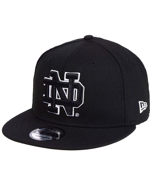 New Era Notre Dame Fighting Irish Black White Fashion 9FIFTY Snapback Cap