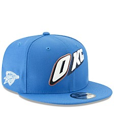 New Era Oklahoma City Thunder Enamel Script 9FIFTY Snapback Cap