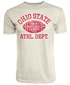 J America Men's Ohio State Buckeyes Tri-Blend '68 National Champ Football T-Shirt