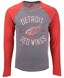 Men's Detroit Red Wings Heritage Long Sleeve Raglan T-shirt