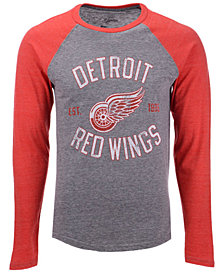 Majestic Men's Detroit Red Wings Heritage Long Sleeve Raglan T-shirt