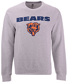 Authentic NFL Apparel Men's Chicago Bears Gunslinger Crew Neck Sweatshirt