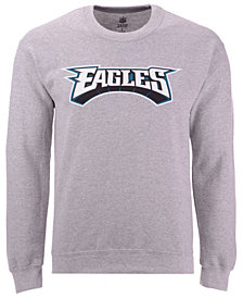Authentic NFL Apparel Men's Philadelphia Eagles Gunslinger Crew Neck Sweatshirt
