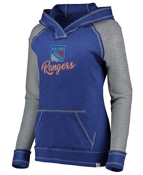 Majestic Women's New York Rangers Hyper V-Neck Hoodie