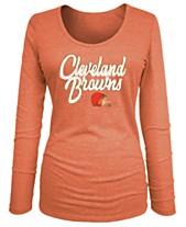 037c95d37 5th   Ocean Women s Cleveland Browns Long Sleeve Triblend Foil T-Shirt