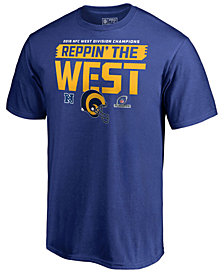Majestic Men's Los Angeles Rams Division Champ Fair Catch T-Shirt