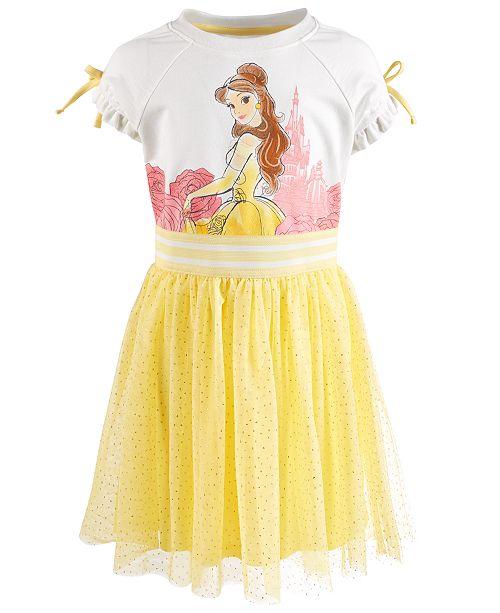Disney Little Girls Belle Glitter-Mesh Dress