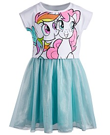 My Little Pony Little Girls Graphic-Print Mesh Dress