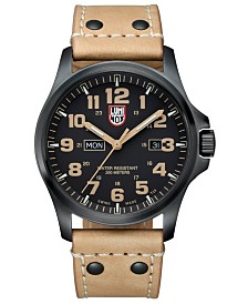 Luminox Atacama Field Day Brown Leather Strap Watch - 1925