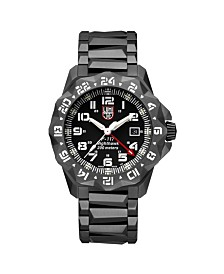 Luminox Men's 6422 F-117 Nighthawk 6400 Series Black Stainless Bracelet Watch