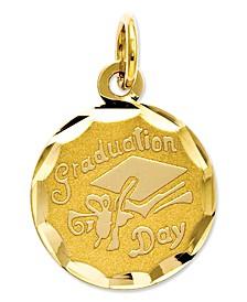 14k Gold Charm, Graduation Cap Charm