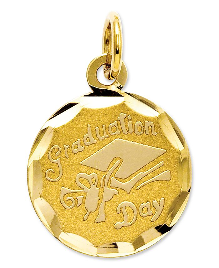Macy's - 14k Gold Charm, Graduation Cap Charm