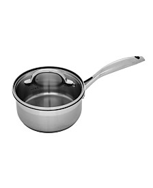 "Swiss Diamond Premium Steel Saucepan with Lid - 6.3"" , 1.6 QT."