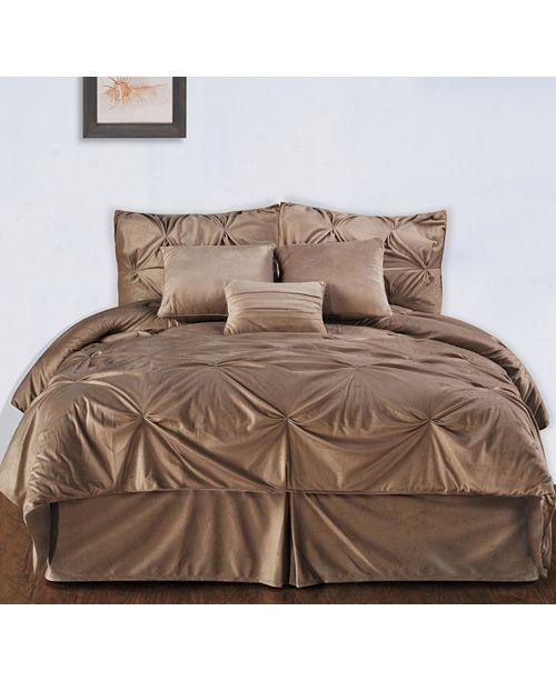 953634cb5 Pintuck Plush 7-PC Complete Comforter Set