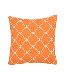 Levtex Home Serendipity Orange Rope Pillow