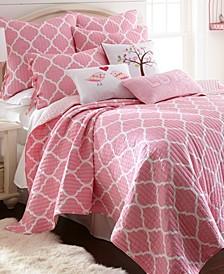 Home Gianna Pink Twin Quilt Set