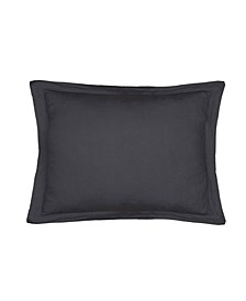 Home Washed Linen Charcoal Standard Sham with Flange