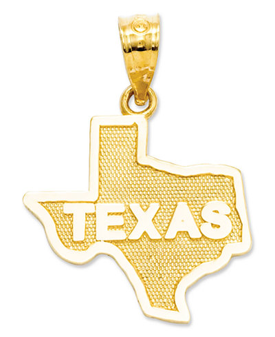 14k gold charm state of texas charm jewelry watches macys 14k gold charm state of texas charm mozeypictures Images
