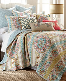 Tangier Medallion Print Reversible Full/Queen Quilt Set