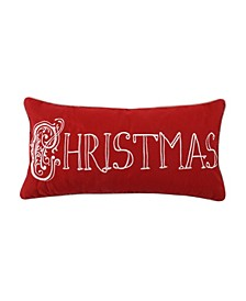 Home Noelle Christmas Embroidered Pillow