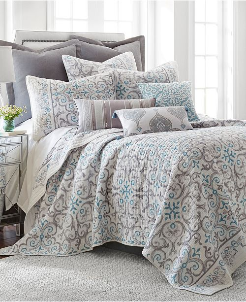 Levtex Home Architectural Tile Gray Twin Quilt Set