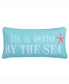 Levtex Home Teal Life is Better By The Sea Pillow