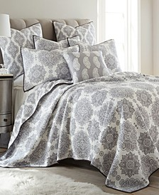 Home Caravan Gray Full/Queen Quilt Set