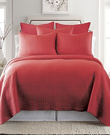 Levtex Home Cross Stitch Chile Red Twin Quilt Set
