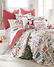 Home Santa Claus Lane Twin Quilt Set