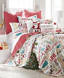 Levtex Home Santa Claus Lane Twin Quilt Set