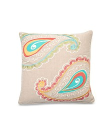 Levtex Home Ashbury Embroidered Paisley Pillow