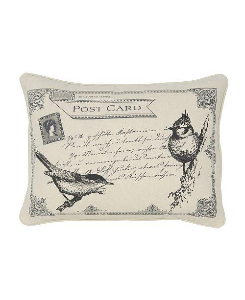 Levtex Home Histoire Birds Postcard Pillow